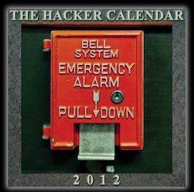 The Hacker Calendar front cover