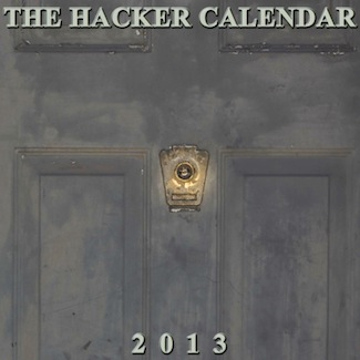 The Hacker Calendar 2013 front cover
